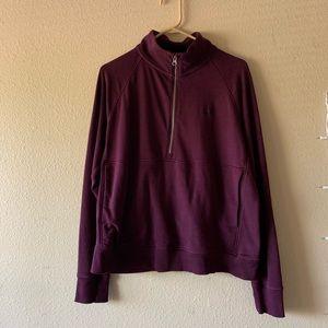 Under Armour Burgundy Half Zip Sweatshirt